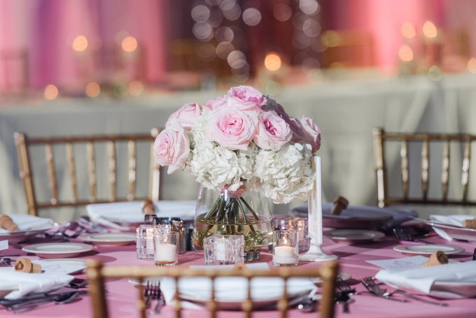 All Pink Wedding Indianapolis Downtown Venue
