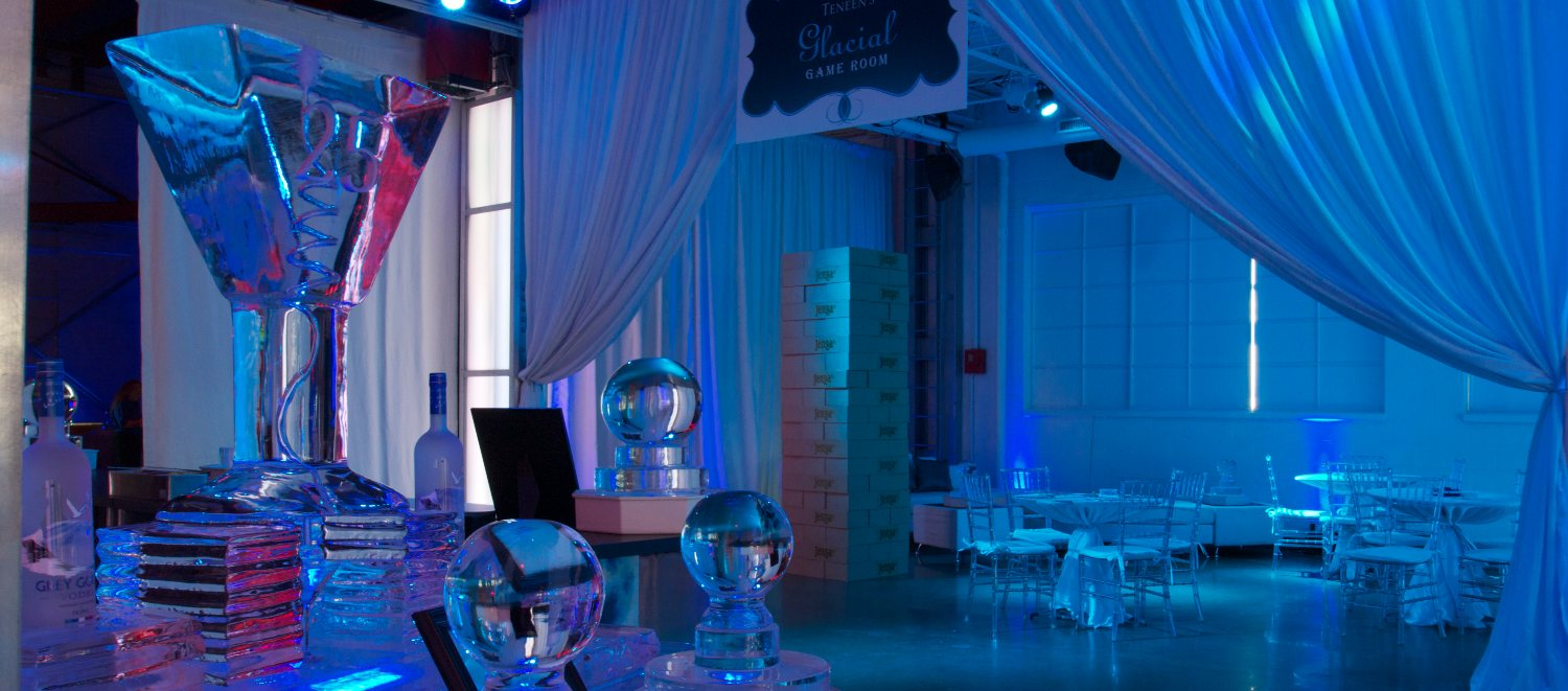 Ice Themed Event Downtown Indianapolis