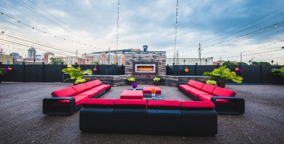 Patio Outdoor Private Patio Downtown Indianapolis Skyline Event Venue