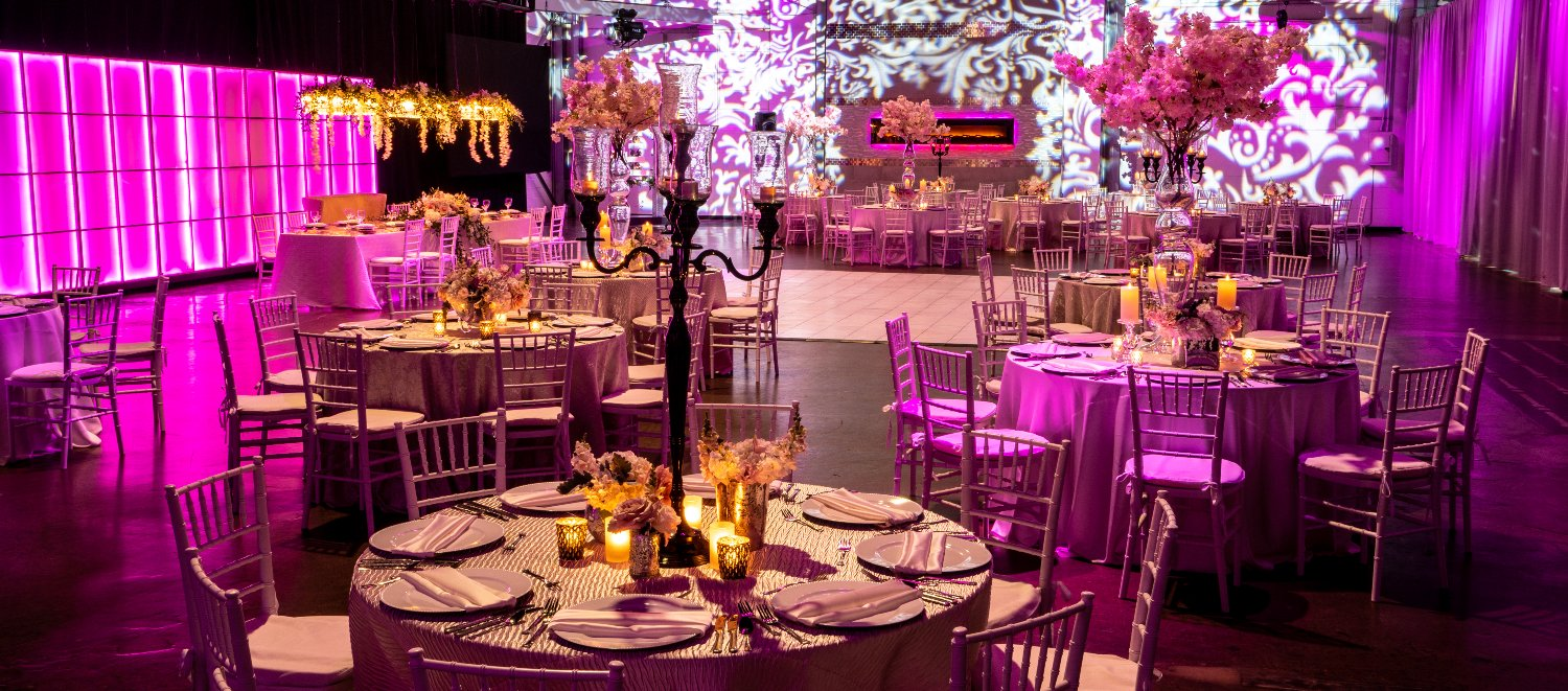 Pink Wedding Downtown Indianapolis
