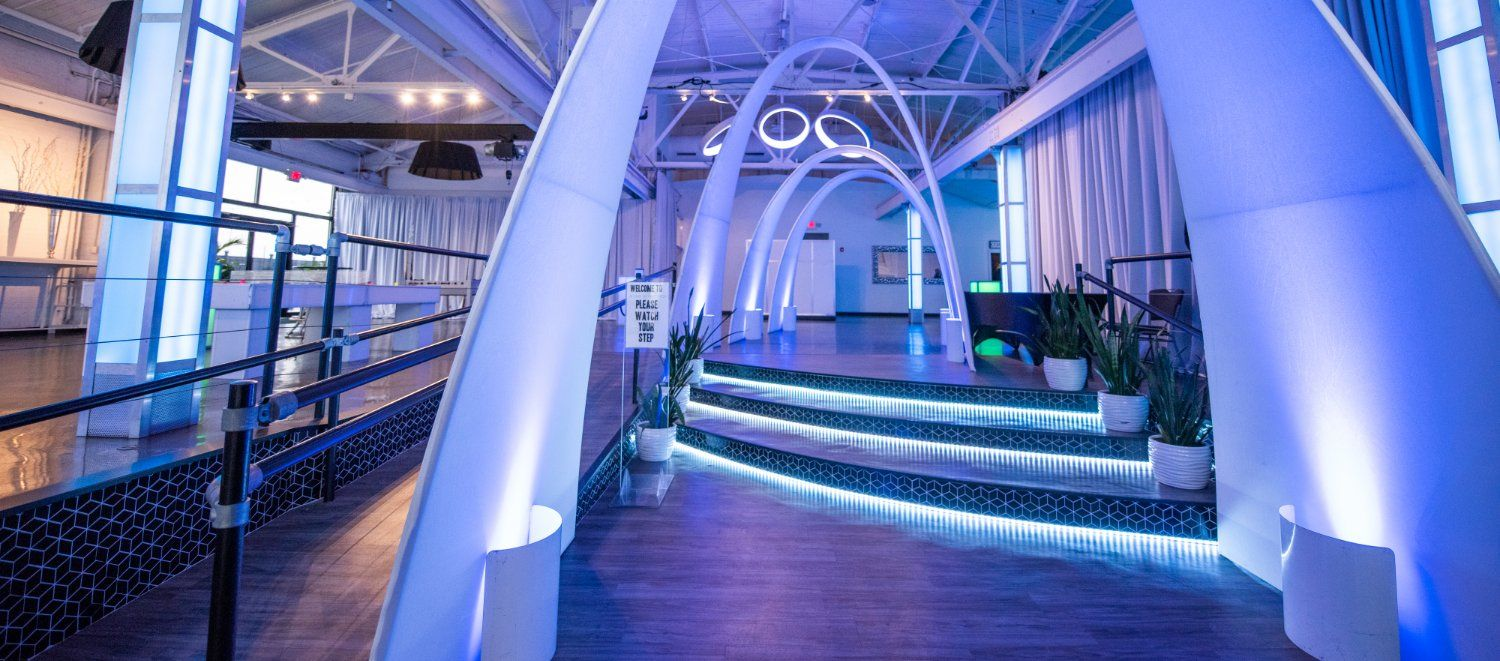 LED Lighted Arches Corporate Event Downtown Indianapolis