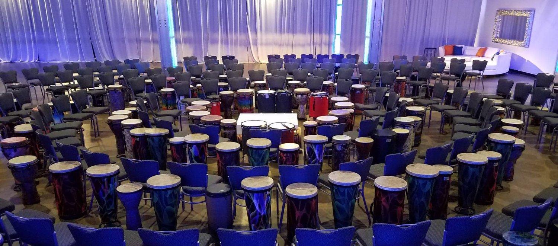 Unique Event Drum Circle Corporate Meeting Downtown Indianapolis