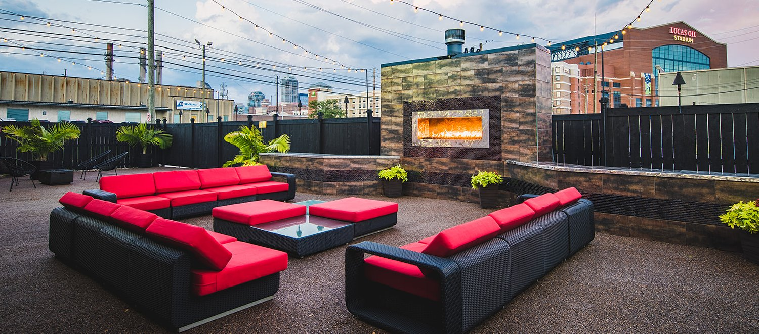 Outdoor Private Patio Downtown Indianapolis Skyline View
