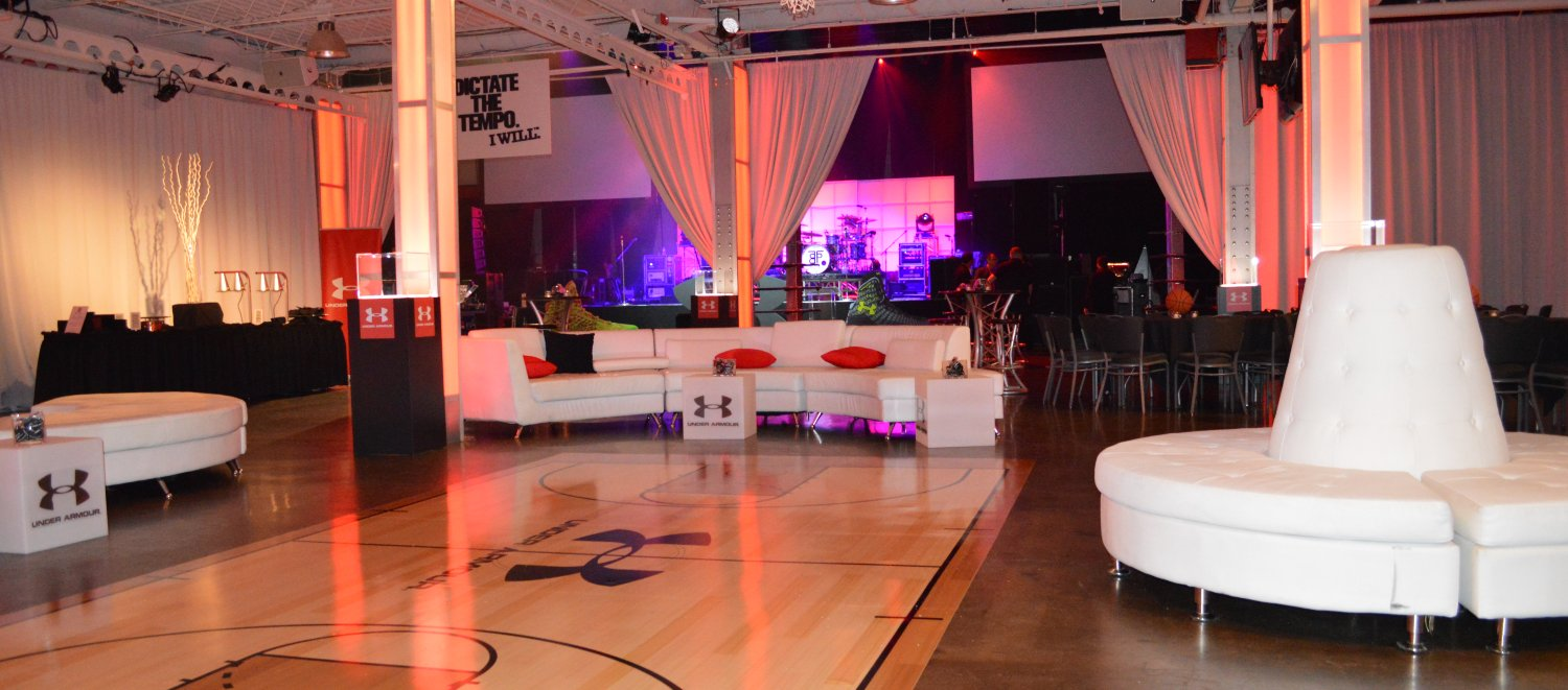 Basketball Themed Event Venue Downtown Indianapolis Final Four