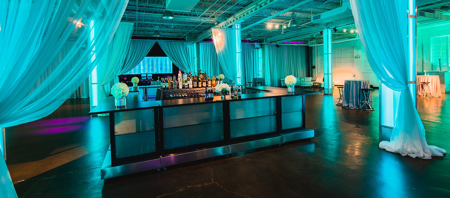 LED Lighted Bar Design Event Downtown Indianapolis