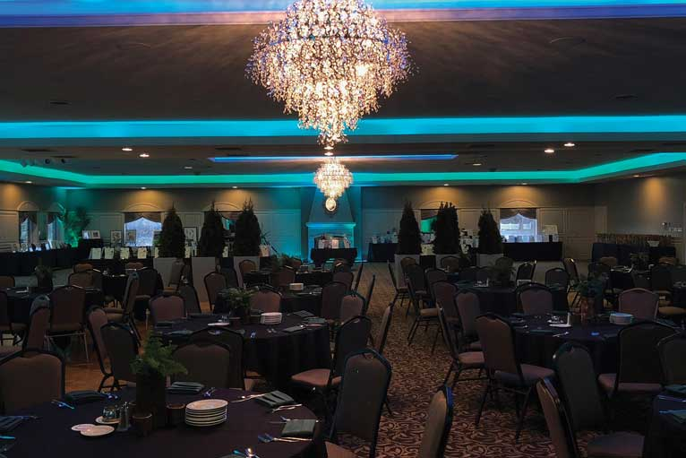 Charity events love The Ballroom at The Willows because of ample space for silent auction items