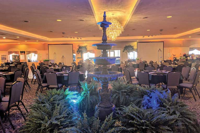 Formal corporate party at The Ballroom at The Willows in Indianapolis