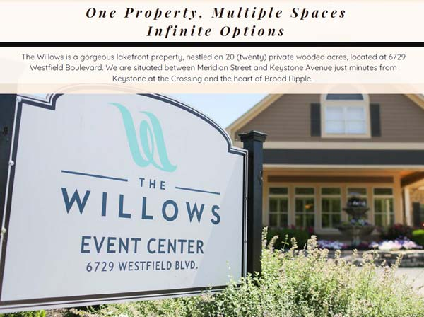 The Willows Corporate, Social & Nonprofit Pricing & Brochure