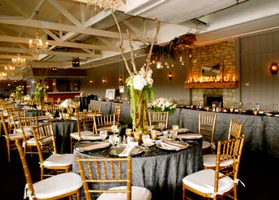 The Lodge at The Willows decorated for a wedding reception