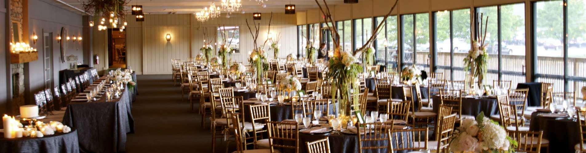 Bohemian and natural themed wedding reception at the lakefront venue of The Lodge at The Willows