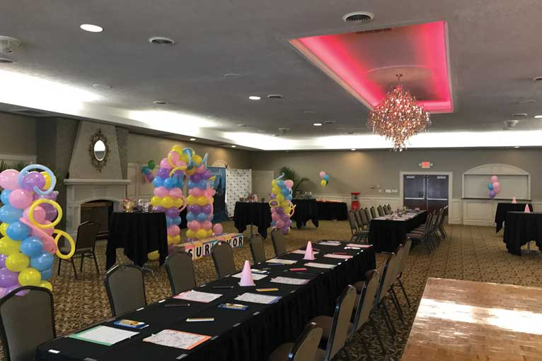 A social event to celebrate beating cancer at The Ballroom at The Willows in Indianapolis