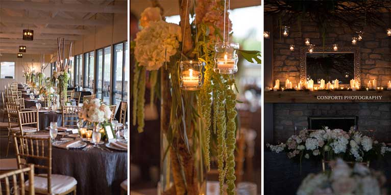 This rustic wedding reception used greenery set the tone for The Lodge at The Willows in Indianapolis