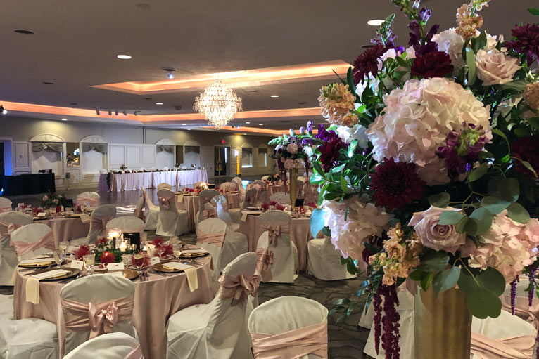 The Ballroom at The Willows is the perfect venue for a elegant wedding reception in Indianapolis
