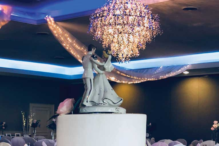 Cinderella themed wedding reception at The Ballroom at The Willows