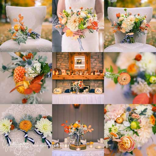 Creative wedding theme at The Lodge at The Willows in Indianapolis