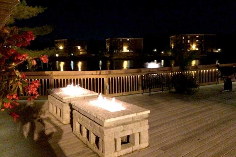The Lodge at The Willows features a deck and fire pit, making the perfect venue for your outdoor event