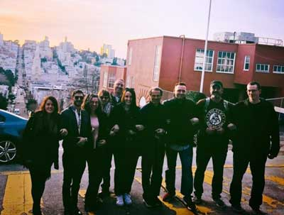 The Willows Team takes a group photo in downtown San Francisco