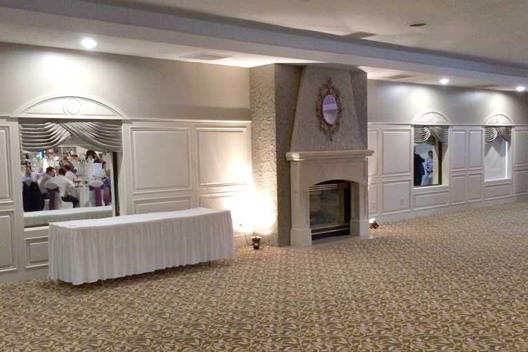 The Ballroom at The Willows features 2 fireplaces and plenty of square footage for any Indianapolis event