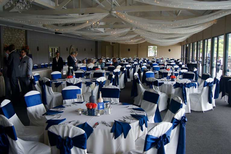 Corporate event held at The Lodge at The Willows, a waterfront event venue in Indianapolis
