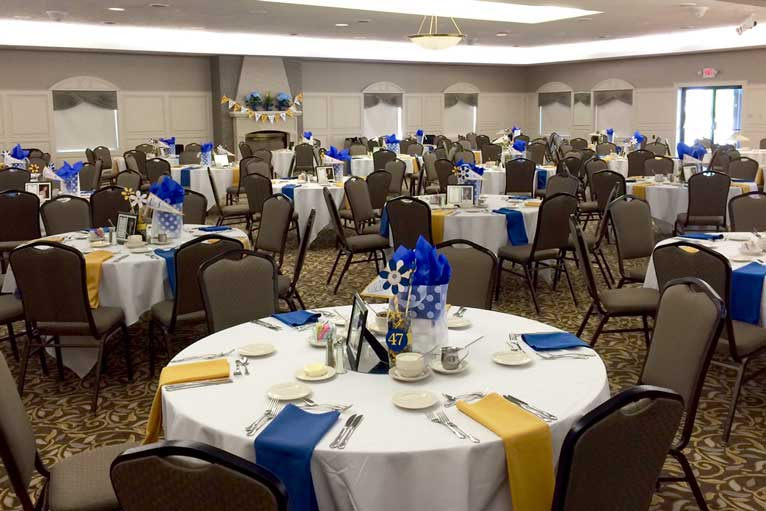 Graduation reception at The Ballroom at The Willows in Indianapolis