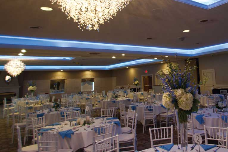 Elegant wedding reception at The Ballroom at The Willows in Indianapolis