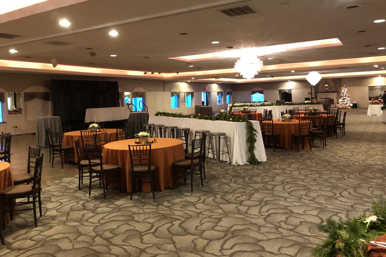 The Ballroom at The Willows hosts BRI Inc's Corporate Event
