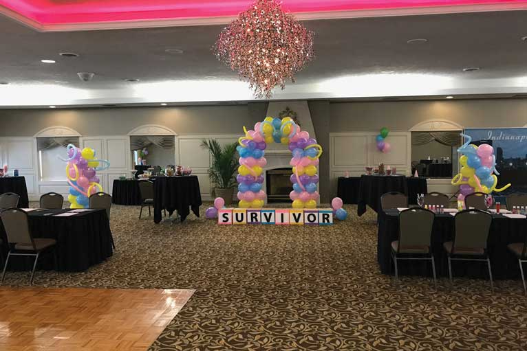 Surviving cancer is a great reason to host a social event at The Ballroom at The Willows in Indianapolis
