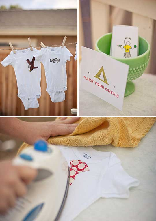 DIY Onesies are a great baby shower event
