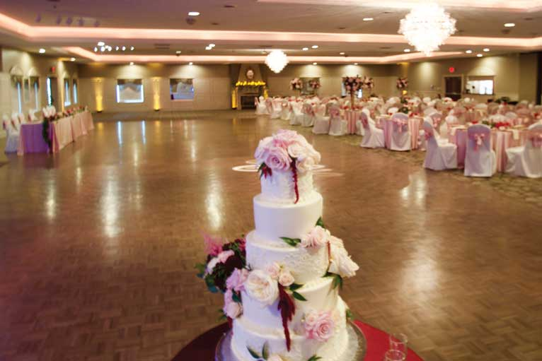 Unique wedding reception The Ballroom at The Willows in Indianapolis