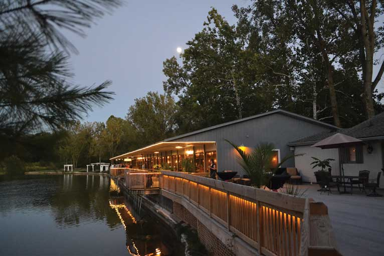 The Lodge at The Willows is a lakefront venue and can host any corporate, wedding, or social event