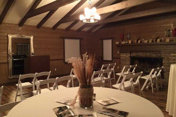 The Lodge at The Willows set up a for a corporate retreat