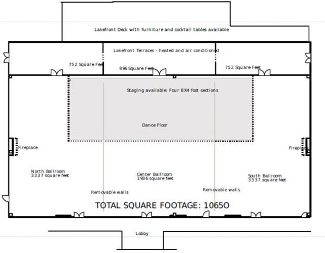 The Ballroom Venue Floor Plan, an event space at The Willows Event Center in Indianapolis