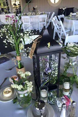 Rustic Chic Centerpiece Idea for a wedding reception at The Lodge at The Willows