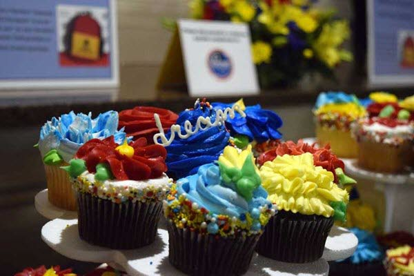 Social Event celebrates with colorful cupcakes at The Willows in Broad Ripple