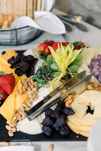 A grazing table is one of today's hottest trends for wedding receptions; catering by Crystal Catering