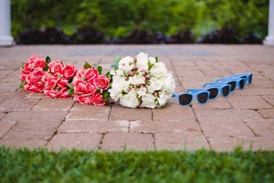 Spring Wedding Idea at The Lakefront Garden at The Willows in Indianapolis