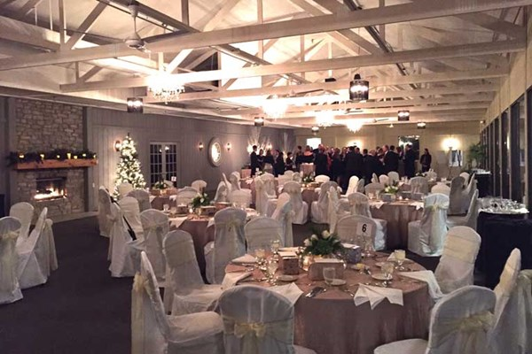 The Lodge at The Willows hosts a corporate holiday party