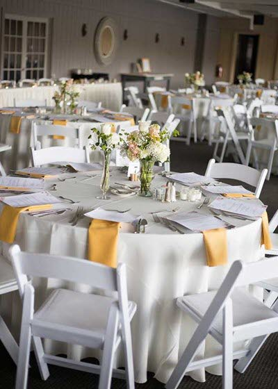 Rustic chic wedding reception in Indianapolis at the unique venue of The Lodge at The Willows