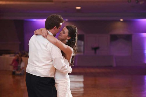 Bride and Groom on the dance floor of The Ballroom at The Willows