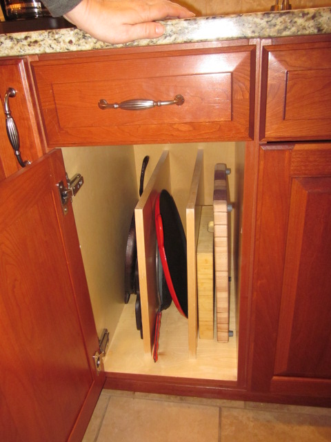 Placing Them In A Base Cabinet With Vertical Dividers Makes Storage A  Cinch. Locating The Dividers In A Cabinet Near The Oven Puts The Correct  Tray At Your ...