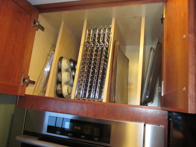 It May Even Become A Collecting Spot For Odds N Ends Or Seldom Used Items.  These Can Be Excellent Locations To Install Dividers To Hold Trays, Pans,  ...