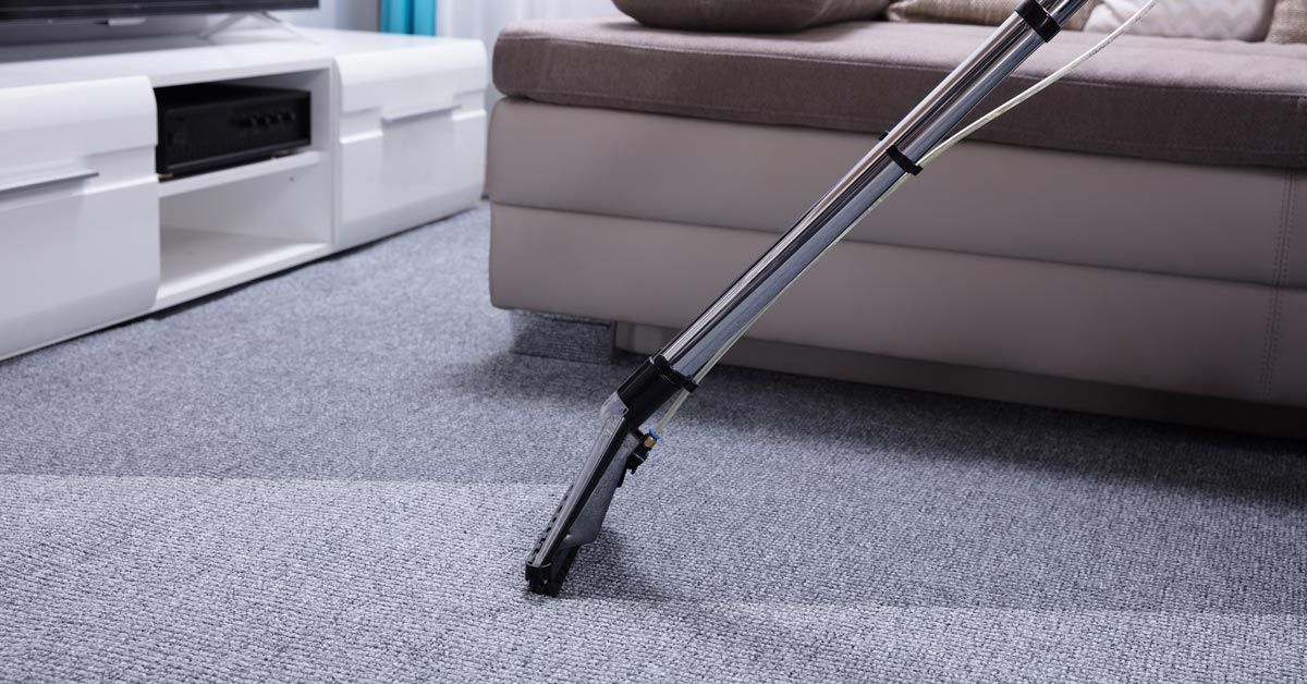 Berber carpet being cleaned by carpet cleaning service