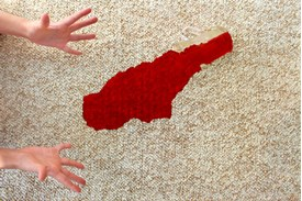Time to get the red stain out of carpet from a juice spill