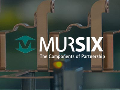 Mursix logo over one our our precision manufactured components