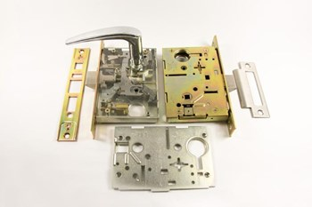 Door lock component using stamping produced by Mursix for over 15 years