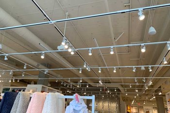 Track Lighting requires metal stamping and wiring harness assembly, as seen here in Pottery Barn Kids
