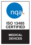 ISO 13485:2016 certified by NQA