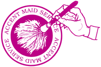 Pink logo for Accent Maid Service, a Indianapolis home cleaning provider