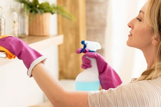 Maid cleaning house in Indianapolis