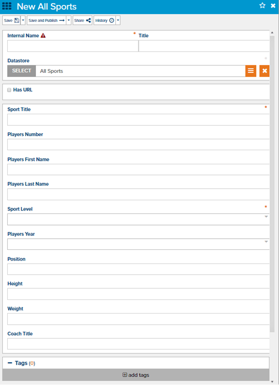 Datastore Items allow friendly forms for proper data validation across websites | Marketpath CMS